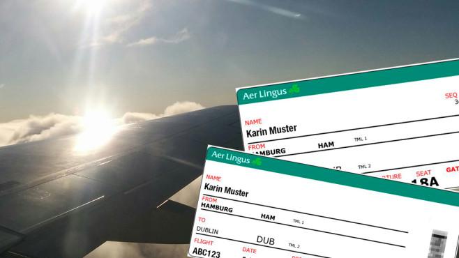 Personalisierte Flugtickets ©Martina Pinkes