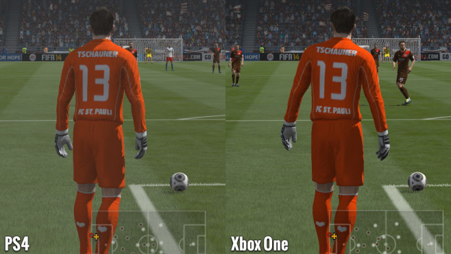 Sportspiel Fifa 14: Tschauner - PS4 vs. Xbox One © Electronic Arts