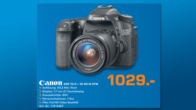Canon EOS 70D Kit 18-55 mm [Canon IS STM] © Saturn