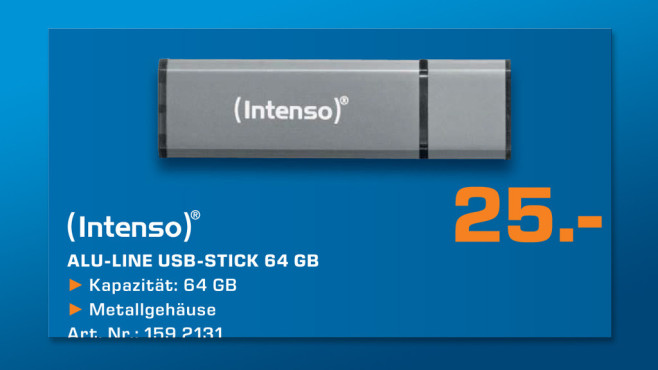 Intenso Alu Line USB Stick 64GB © Saturn