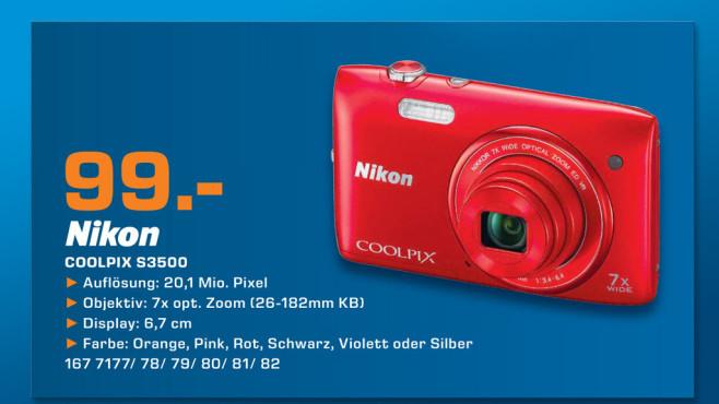 Nikon COOLPIX S3500 ©Saturn