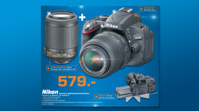 Nikon D5100 Kit 18-55 mm + 55-200 mm © Saturn