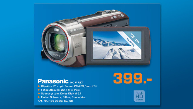 Panasonic HC-V727 © Saturn