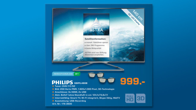 Philips 55PFL4908K ©Saturn