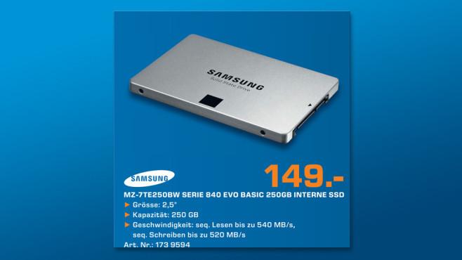 Samsung 840 Evo Series 250GB Basic ©Saturn