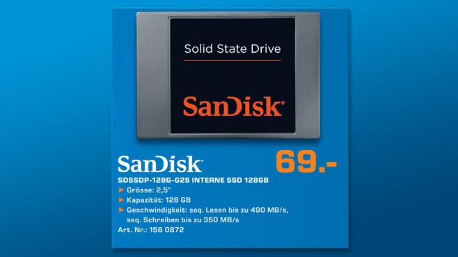 Sandisk 128GB SSD SATA III 2.5 ©Saturn