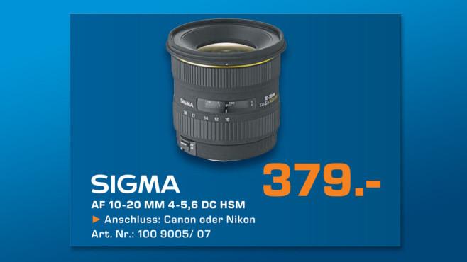 Sigma 10-20mm f4.0-5.6 EX DC HSM ©Saturn