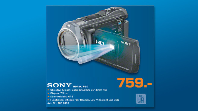 Sony HDR-PJ650VE ©Saturn