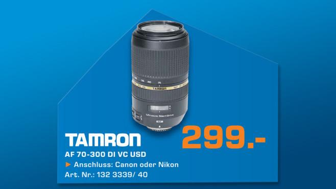 Tamron SP AF 70-300mm f4.0-5.6 Di VC USD ©Saturn