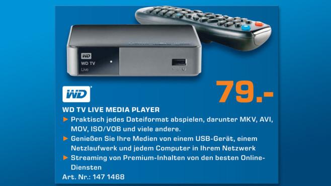 Western Digital WD TV Live WiFi ©Saturn