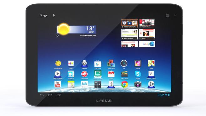 Tablet-PC: Medion Lifetab E10316 (MD 98516), erhältlich bei Aldi Nord und Süd ©Medion
