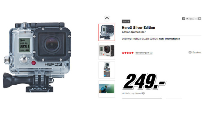 GoPro HERO3 Silver Edition © Media Markt