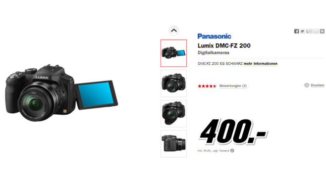 Panasonic Lumix DMC-FZ200 © Media Markt