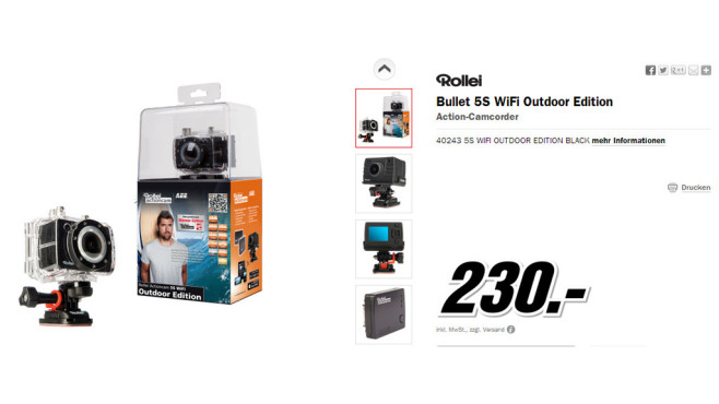 Rollei Actioncam 5S WiFi Outdoor © Media Markt