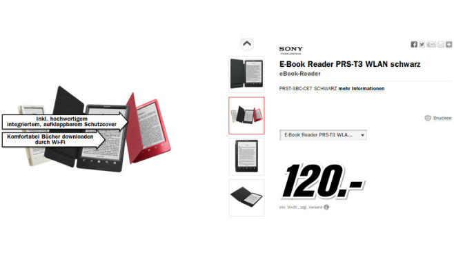 Sony Reader PRS-T3 © Media Markt