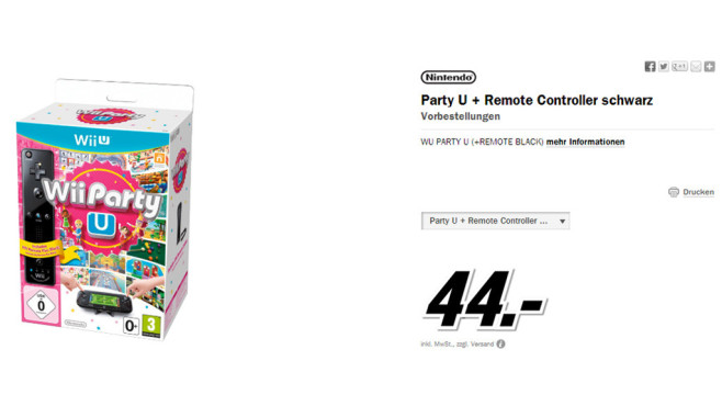 Wii Party U und Wii Remote Plus (Wii U) © Media Markt