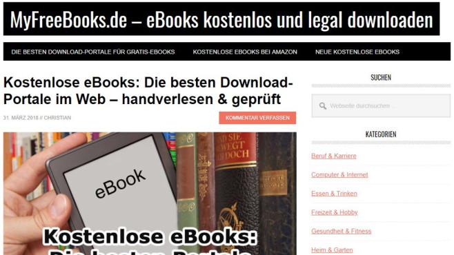 Screenshot MyFreeBooks.de ©MyFreeBooks.de