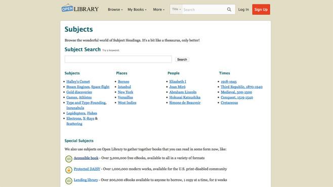 Screenshot Open Library ©Internet Archive