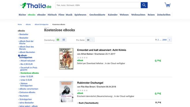 Screenshot thalia.de ©Thalia Bücher GmbH