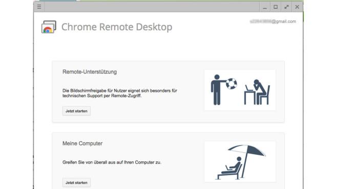 Chrome Remote Desktop ©Google