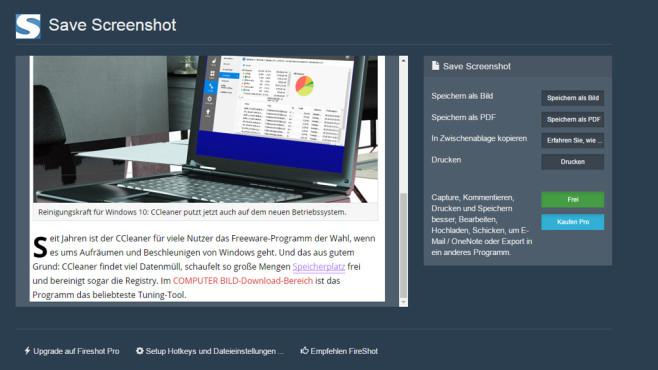 Fireshot für Chrome ©COMPUTER BILD