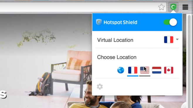 Hotspot Shield für Chrome © Hotspot Shield