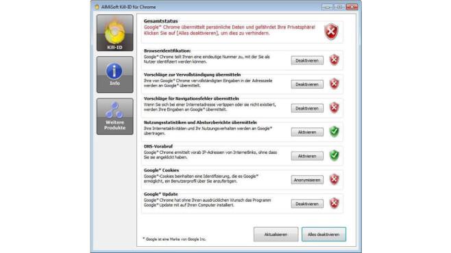 Kill-ID für Chrome ©COMPUTER BILD