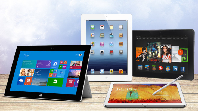 Platz 24: Neue Tablets 2013 © Amazon, Apple, Samsung, Microsoft, tuja66 - Fotolia.com