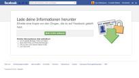 Facebook-Archiv herunterladen ©Facebook / Screenshot COMPUTER BILD