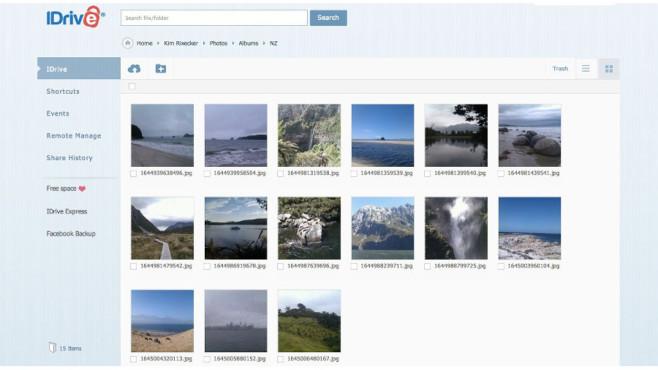 Mit IDrive Fotos und Videos von Facebook sichern ©IDrive.com