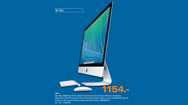 Apple iMac 21,5-Zoll ©Saturn