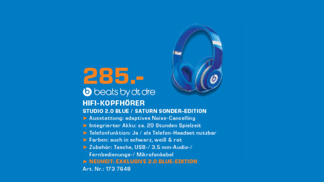 Beats by Dr.Dre Studio 2.0 © Saturn