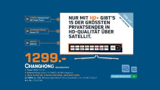 Changhong UHD55B6000IS ©Saturn