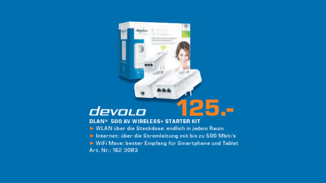 Devolo 500 AV Wireless+ Starter Kit © Saturn
