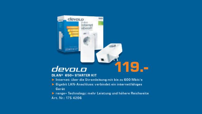 Devolo DLAN 650+ Starter Kit ©Saturn