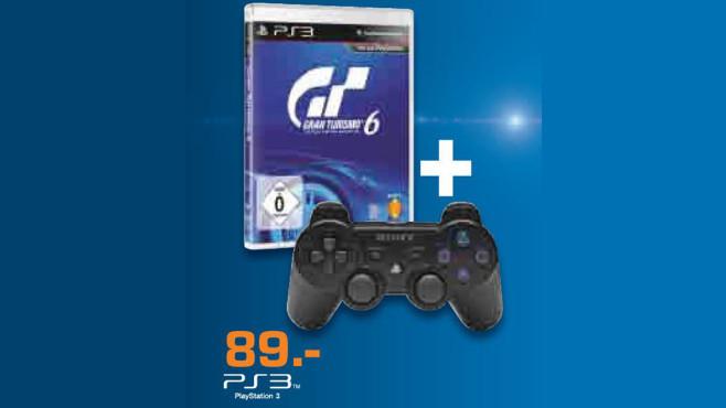 Gran Turismo 6 inklusive PlayStation-3-Controller ©Saturn