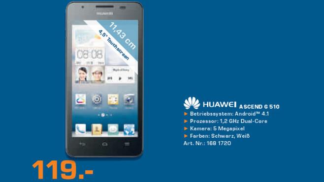 Huawei Ascend G 510 ©Saturn