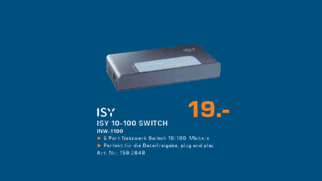 ISY 10-100 Switch © Saturn
