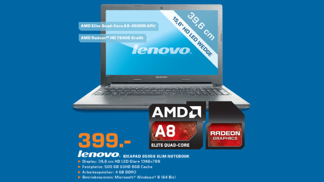 Lenovo IdeaPad G505S Slim Notebook © Saturn