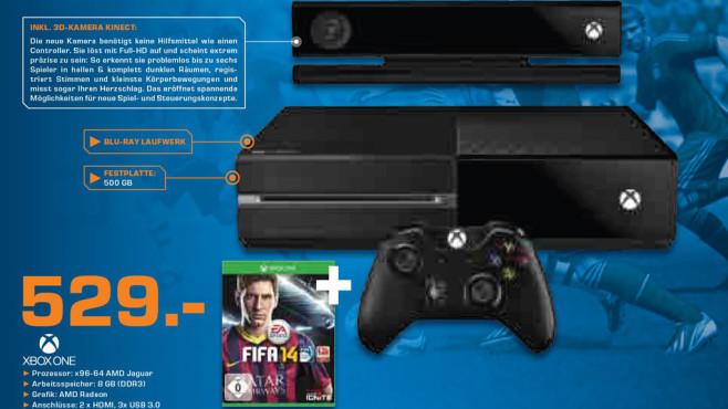 Microsoft Xbox One inklusive Fifa 14 ©Saturn