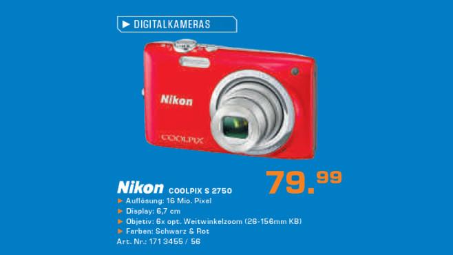 Nikon Coolpix S2750 ©Saturn