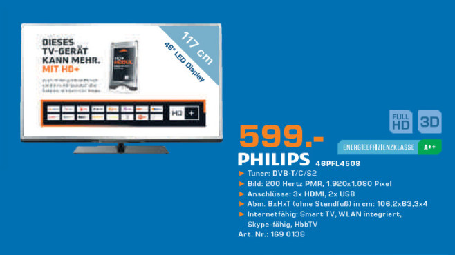 Philips 46PFL4508 © Saturn