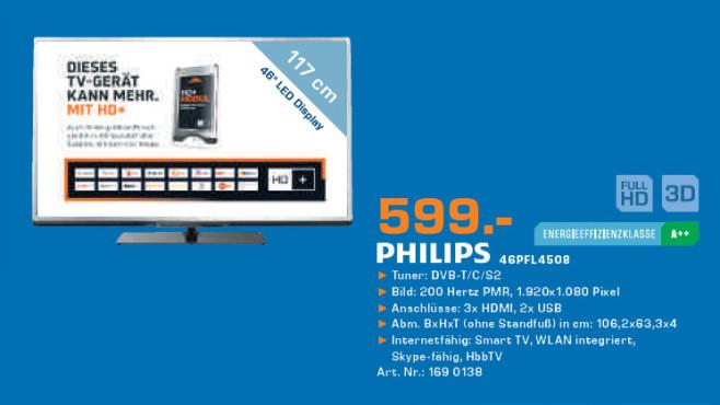 Philips 46PFL4508 ©Saturn