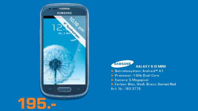 Samsung Galaxy S3 Mini © Saturn
