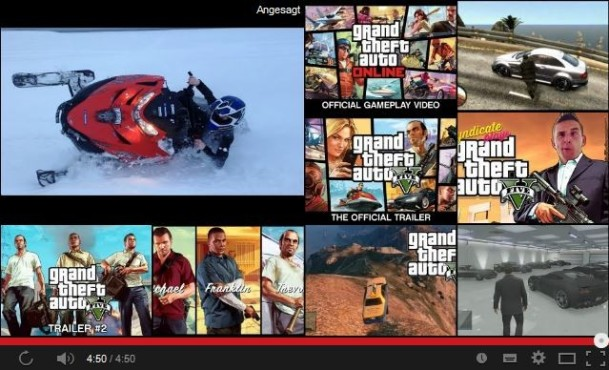Grand Theft Auto V: Official Gameplay Video © YouTube