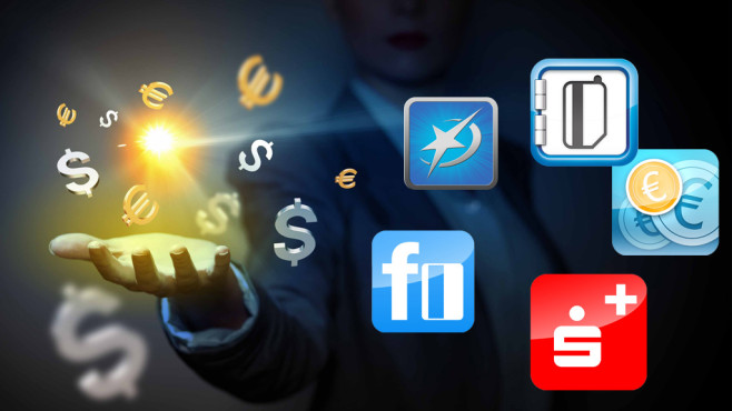 Getestete Banking-Apps ©Sergey Nivens - Fotolia; Montage: COMPUTER BILD
