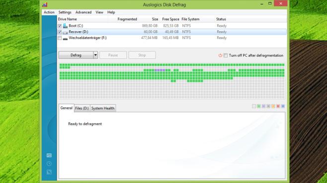 Auslogics Disk Defrag: Dateisystem optimieren ©COMPUTER BILD