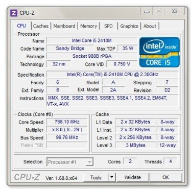 CPU-Z: Infos zum Prozessor ©COMPUTER BILD