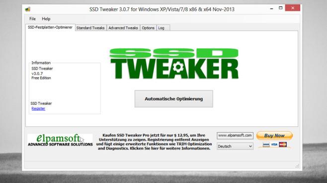 SSD Tweaker: Windows für SSD-Nutzung anpassen ©COMPUTER BILD