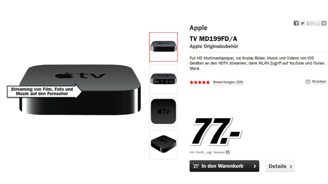 Apple TV (3. Generation) © Media Markt